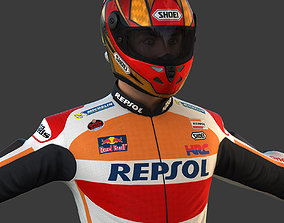 3D Motorcycle Rider - Repsol