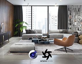 3D model Apartment Scene for Cinema 4D and Octane Render