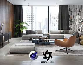 3D Apartment Scene for Cinema 4D and Octane Render