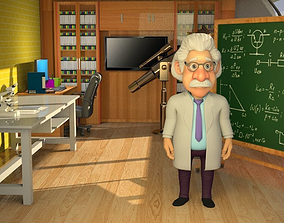 CARTOON PROFESSOR AND DOCTOR 3D model