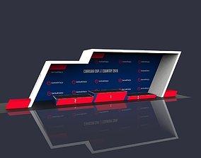 Stand Sport Podium 3D