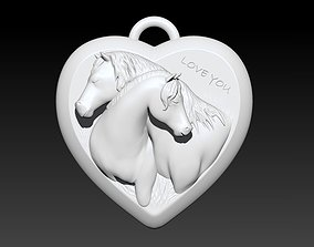 Love Horses Pendant 3D printable model