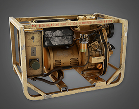 3D model Military Mini Gas Generator - PBR Game Ready
