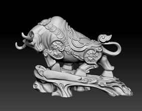 3D printable model Bull Sculpture boxer