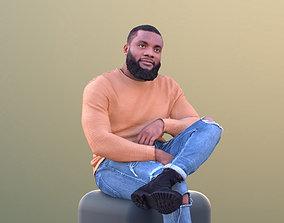 Gabriel 10638 - Black Casual Man Sitting Talking 3D asset