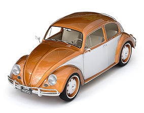 Volkswagen Beetle 3D model VR / AR ready