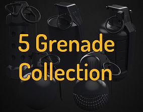 3D model 5 Grenade - High poly