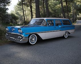 Chevrolet Brookwood Station Wagon 1958 3D model 1963