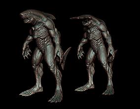 Sharkman and Hammerhead sharkman 3D print model