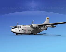 3D model Fairchild C-123K Provider V02