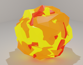 3D model Low Poly Explosion