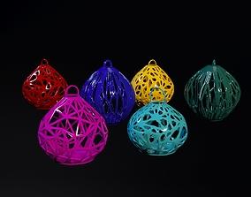 set of christmas balls 3D printable model