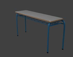 School Desk student 3D model