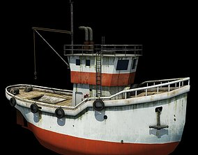 Fishing Boat object 3D asset realtime