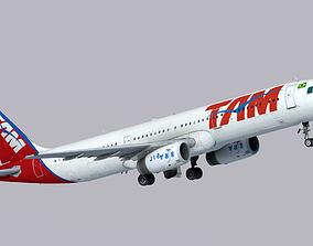 Airbus A321-200 TAM Linhas Aereas 3D asset