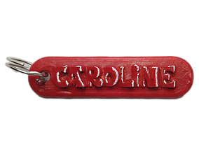 3D printable model CAROLINE Personalized keychain embossed