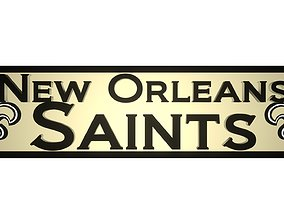New Orleans Saints plate 3D model
