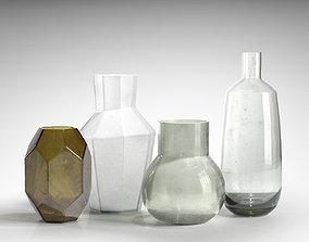 polygonal 3D model Vase set 06