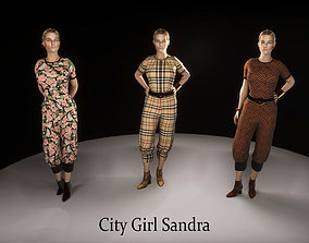 3D asset City Girl Sandra