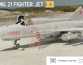 3D asset MiG 21 - Rigged and Animated - with Interior - M5