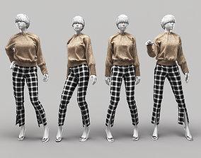 pose 3D model Woman Mannequin 10