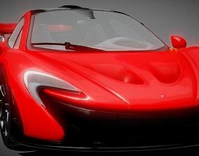 game-ready Legendary Super Car 3D Model