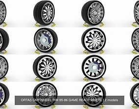 ORTAS CAR WHEEL RIM 85-86 GAME READY WHEEL 3D