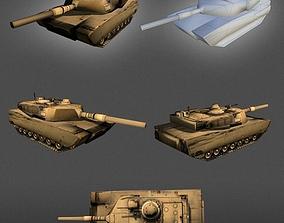 3D asset M1 Abrams Tank lowpoly