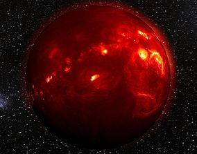 3D asset Volcanic planet