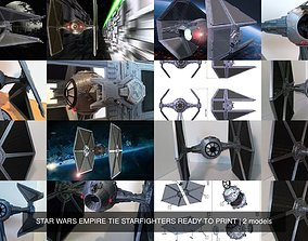 3D model STAR WARS EMPIRE TIE STARFIGHTERS READY TO PRINT