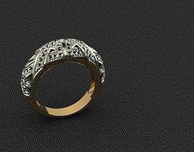 3D print model gold gem Ring