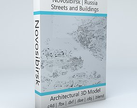 Novosibirsk Streets and Buildings 3D
