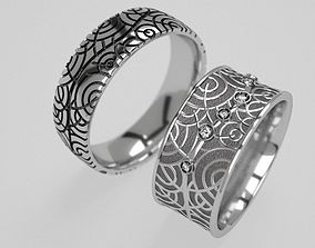 3D print model Tree wedding rings - original