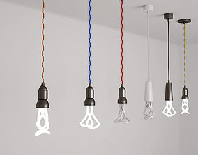 3D model Pendant Light bulbs