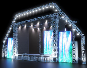 concert stage 3D asset