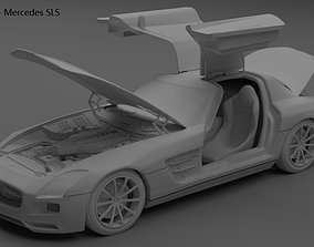 supercar 3D 2012 Mercedes Benz SLS