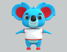 VR / AR ready Cartoon Animal Koala Bear 3D model