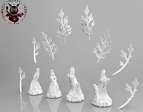 Modular Trees for miniature basing 3D print model