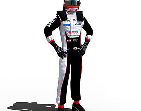 Kazuki Nakajima WEC 2018 3D asset