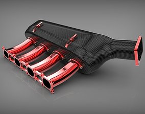 Carbon intake manifold vehicle 3D