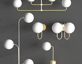 3D Modern lamp collection Laredoute MORICIO