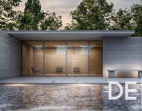 Barcelona Pavillion 3D Architectural Model pool