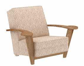 De Coene Oak Armchair 3d model