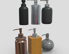 Soap Dispenser Pack 3D asset