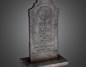 Grave Stone Cemetery 10 CEM - PBR Game Ready 3D model
