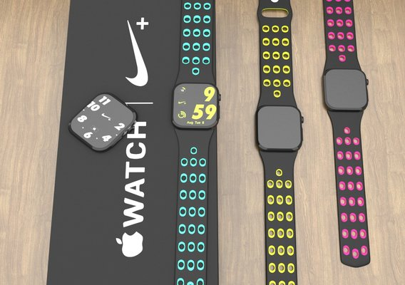 apple watch series 6 44mm with colourfull strap