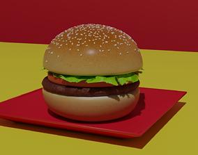 3D asset VR / AR ready Hamburger
