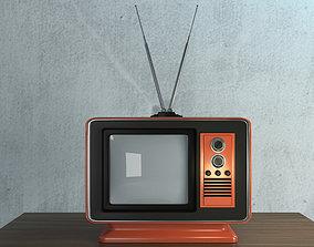game-ready rustic Retro TV 3d Model