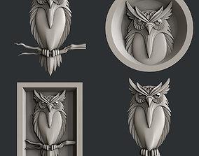 3d STL models for CNC router Owl