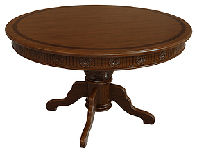 Wooden table with carvings 1200 3D